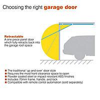 Washington Made to measure Framed White Retractable Garage door