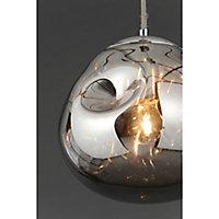 Watson Pendant Chrome effect Ceiling light