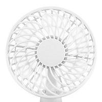 """White 4"""" 4W Blowing Fan"""