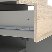 White & Oak Effect TV stand 1.7kg