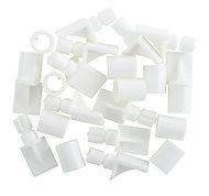White Plastic Shelf support (L)26mm, Pack of 12