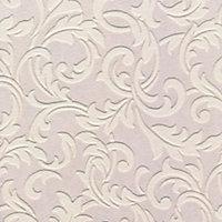 White Scroll Blown Wallpaper