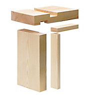 Whitewood spruce Internal Door lining set, (H)2100mm (W)131mm