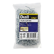 Wire staples (H)14mm (Dia)1.5mm 125g, Pack
