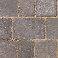 Woburn rumbled Graphite Block paving (L)134mm (W)134mm