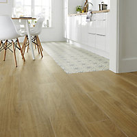 Woodproject Natural Matt Wood effect Porcelain Floor Tile Sample