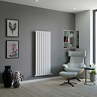 Ximax Vertirad Horizontal or vertical Designer Radiator, White (W)595mm (H)1500mm