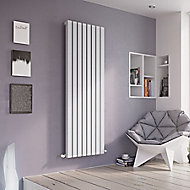 Ximax Vulkan Square Vertical Designer Radiator, White (W)435mm (H)1800mm