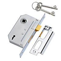 Yale PM246 2.5P 64mm Chrome effect Metal 2 lever Sashlock