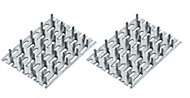 Zinc Timber connector (L)70mm (W)50mm , Pack of 4