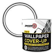 Zinsser 3-in-1 Off white Wallpaper Matt Cover-up paint, 2.5L