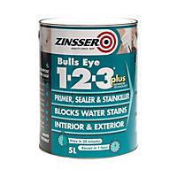 Zinsser Bulls Eye 1-2-3 White Multi-surface Primer, sealant & stain block, 2.5